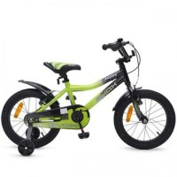 "Bicicleta copii Fusion Alloy Green 16"""