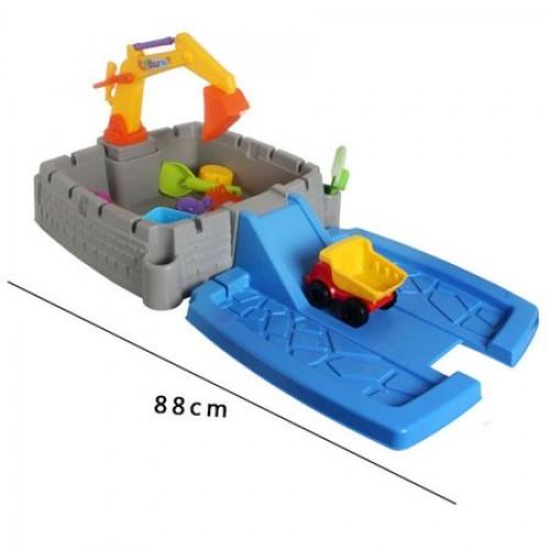 Cutie nisip pentru copii cu excavator