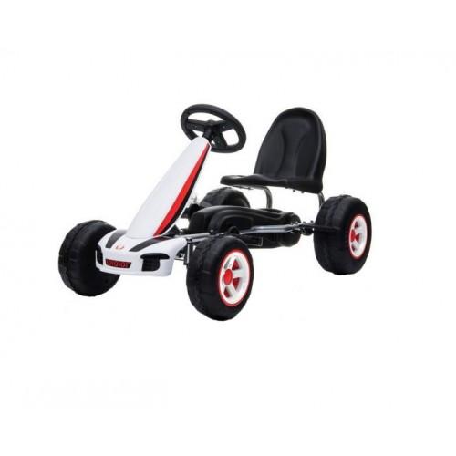 Kart cu pedale Go Kart Fever White