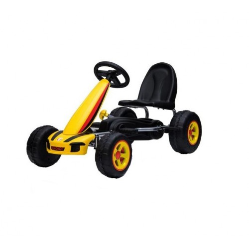 Kart cu pedale Go Kart Fever Yellow