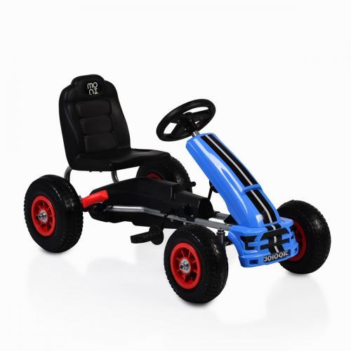 Kart cu pedale si roti gonflabile Nevada Blue