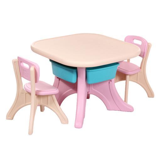 Masuta cu doua scaune Comfort  Pink
