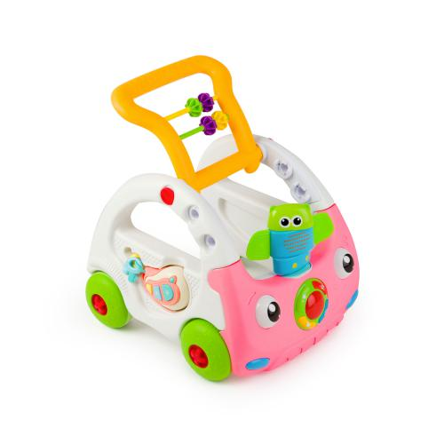 Antemergator Baby Walker 3 in 1 roz