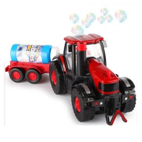 Jucarie de Facut Baloane de Sapun pentru Copii Tractoras cu remorca