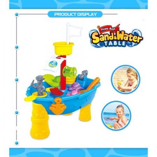 Masuta de joaca pentru apa si nisip Corabia Piratilor-24 piese