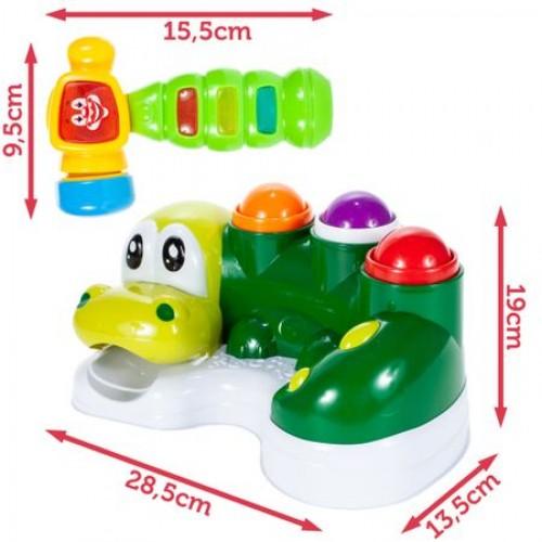 Jucarie Interactiva MalPlay, Crocodilul cu Bile, Verde