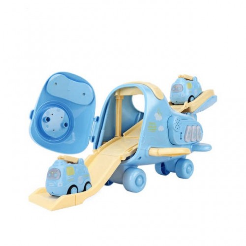Jucarie avion cargo copii GO bleu