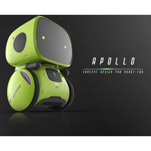 Robot inteligent interactiv Apollo control vocal, butoane tactile, verde