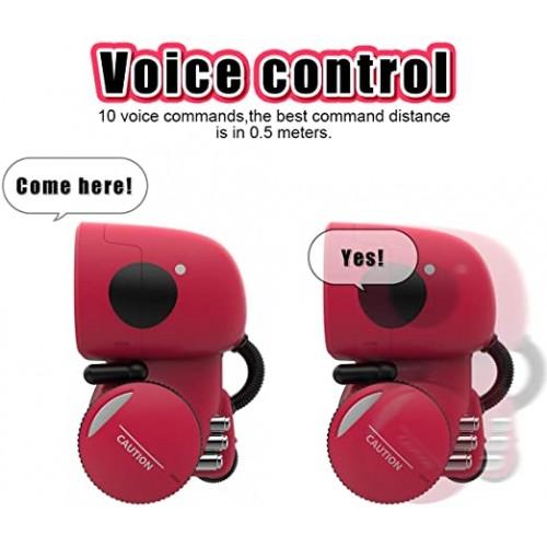 Robot inteligent interactiv Apollo control vocal, butoane tactile, rosu