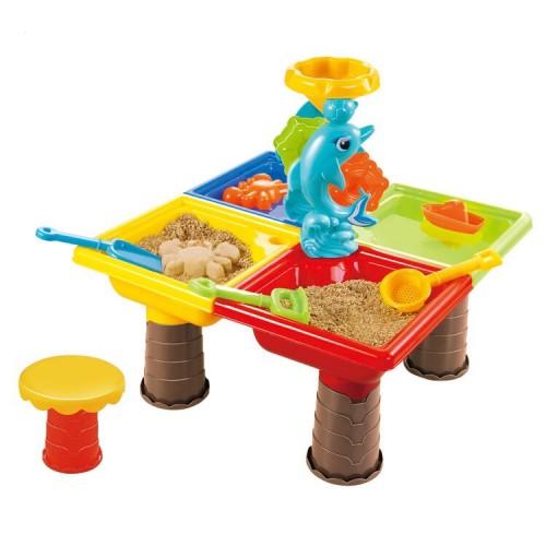 Set masuta de joaca pentru apa si nisip patrata - Delfin
