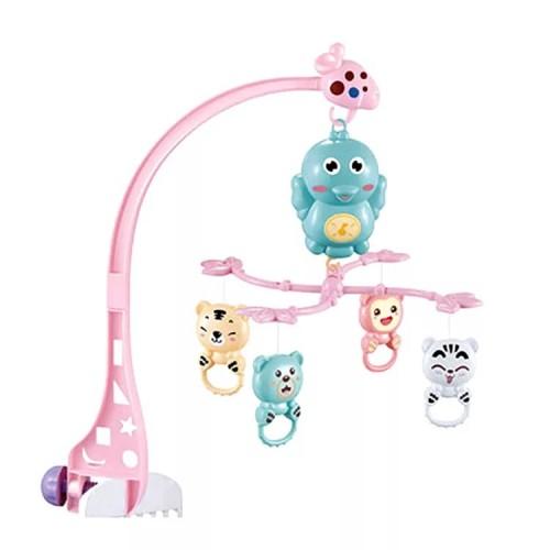 Carusel patut pentru copii Jungle pink
