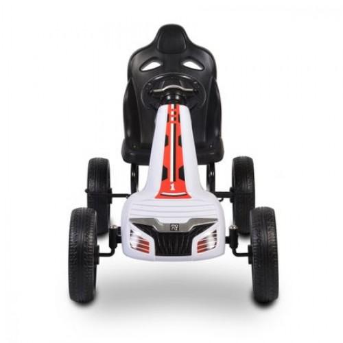 Kart cu pedale si roti din cauciuc Olympus Alb