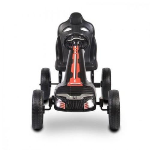 Kart cu pedale si roti din cauciuc Olympus Negru