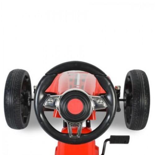 Kart cu pedale si roti din cauciuc Olympus Rosu