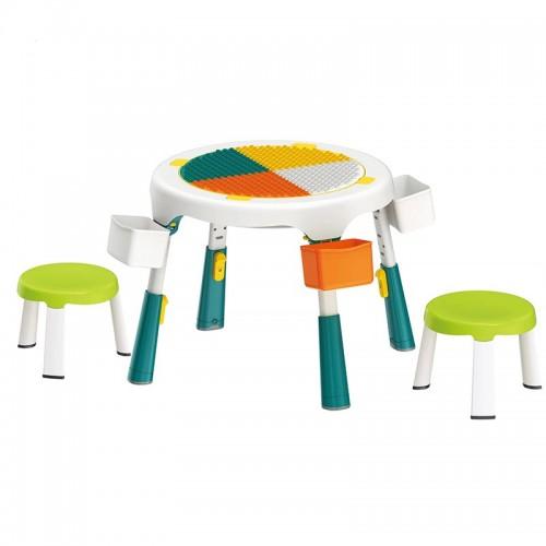 Masa compatibila Lego plianta cu 2 scaune incluse verde
