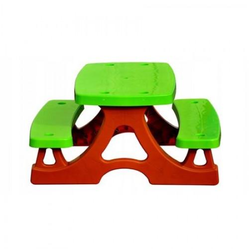 Set masa picnic pentru copii cu 2 bancute