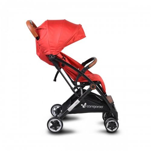 Carucior pliabil pentru copii Paris rosu