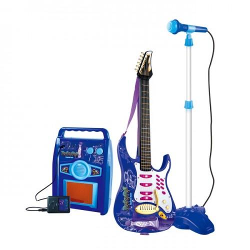 Chitara pentru baieti ROCK cu amplificator, MP3 si microfon