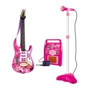 Chitara pentru fetite ROCK cu amplificator, MP3 si microfon