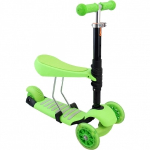 Trotineta Evolutiva Scooter 3 in 1 green