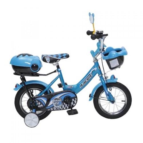 Bicicleta pentru copii 1282 cu roti ajutatoare 12inch Racer Blue