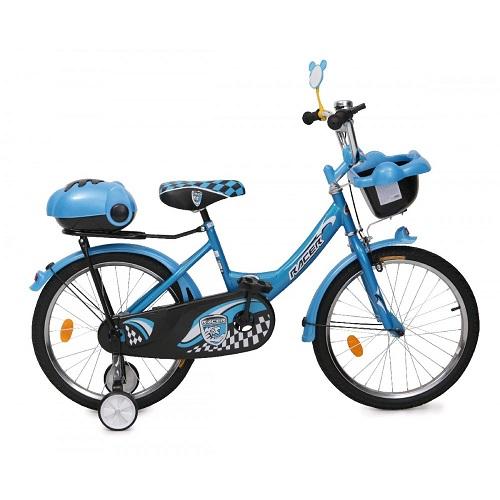 Bicicleta pentru copii cu roti ajutatoare 1682 Racer Blue 16 inch