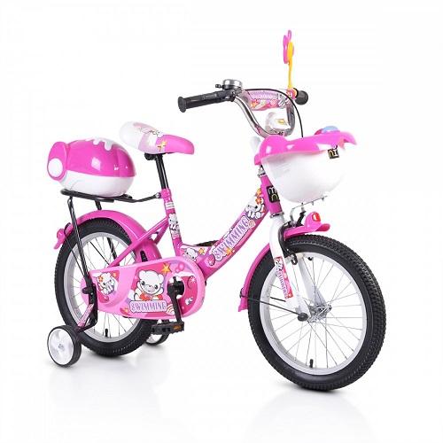 Bicicleta pentru copii cu roti ajutatoare 1682 Racer Pink 16 inch
