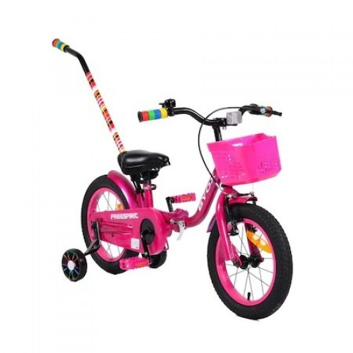 Bicicleta cu maner Byox Freespirit Pink 14 inch