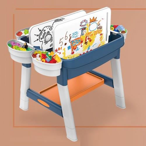 Masa tip lego cu scaunel si pian Buddy Fun