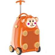 Troler plastic pentru copii Happy Monkey