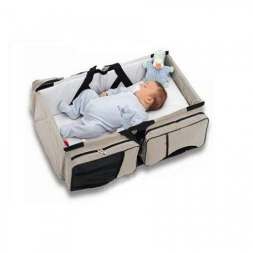 Geanta multifunctionala 3 in 1 Baby Travel Beige