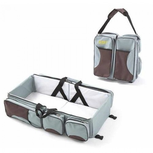 Geanta multifunctionala pentru calatorii Baby Travel Grey