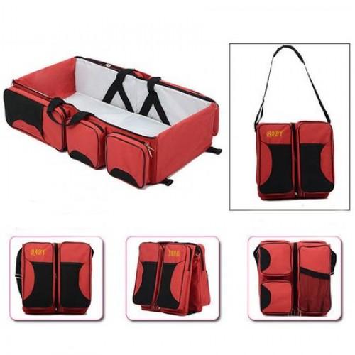 Geanta multifunctionala pentru calatorii Baby Travel Red