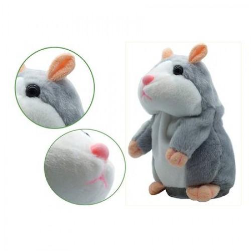 Jucarie interactiva hamster vorbitor Oscar gri