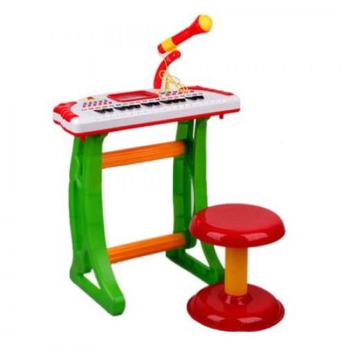 Orga cu scaunel si microfon pentru copii