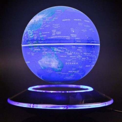 Glob pamantesc albastru Bebeking ce leviteaza cu lumini albastre