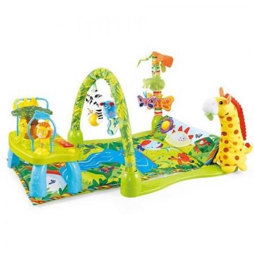 Covoras de joaca cu masuta My Little Giraffe Green