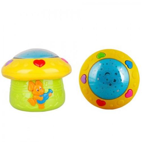 Proiector muzical pentru copii Bunny si lampa de veghe