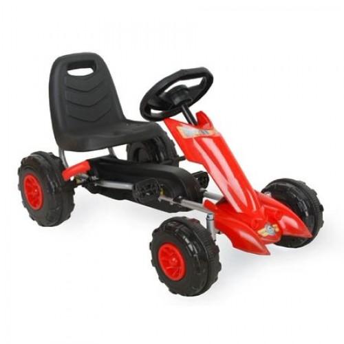 Kart cu pedale Flash Rosu F 628