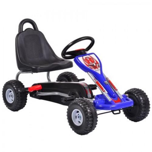 Kart cu pedale pentru copii Falcon Blue roti plastic