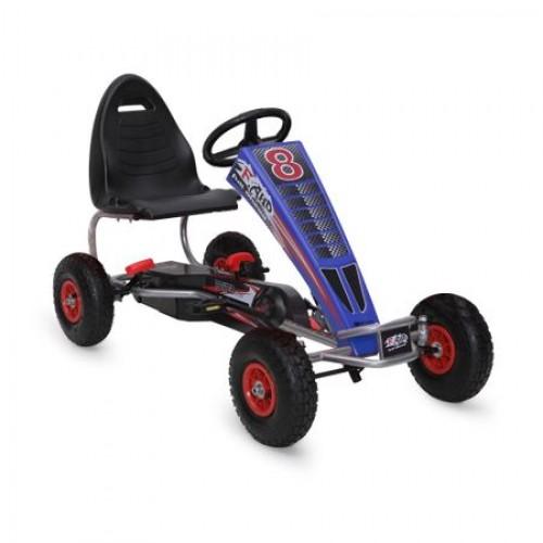 Kart cu pedale pentru copii Full Ahead F8-3 BLUE