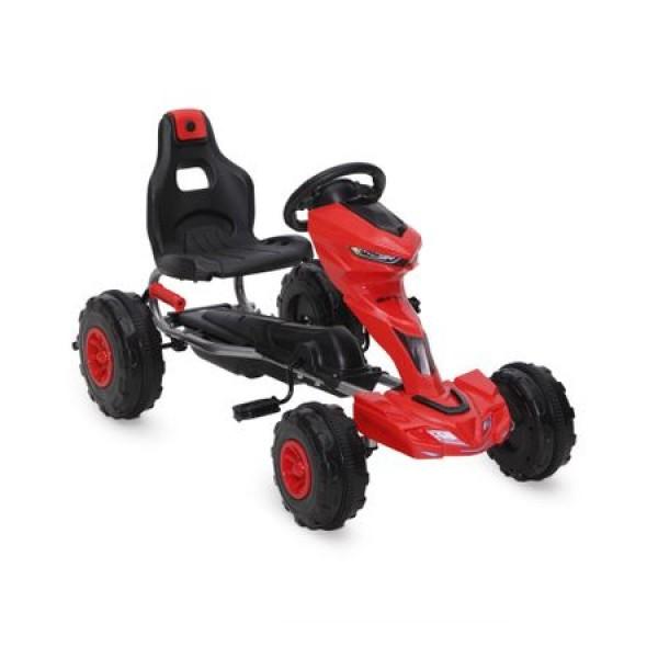 Kart cu pedale pentru copii Go Kart 1501 Red