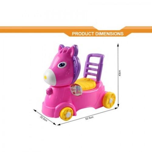 Olita si balansoar ponei roz