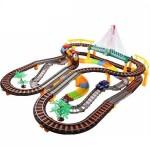 Set Joc Pista de Curse 2-in-1 cu Masina si Trenulet