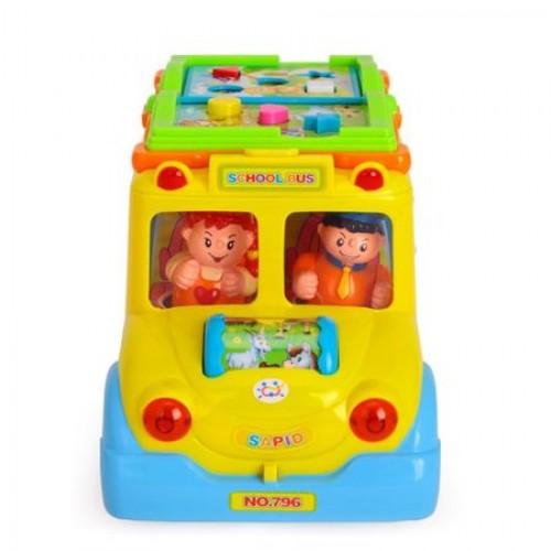 Jucarie educativa EuroBaby Autobuz scolar cu sunete si lumini