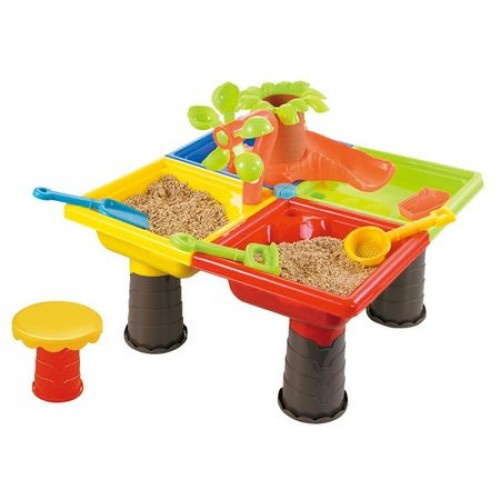 Masuta de joaca pentru apa si nisip patrata Palmier