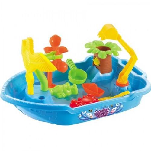 Masuta de joaca pentru apa si nisip rotunda Little Boat