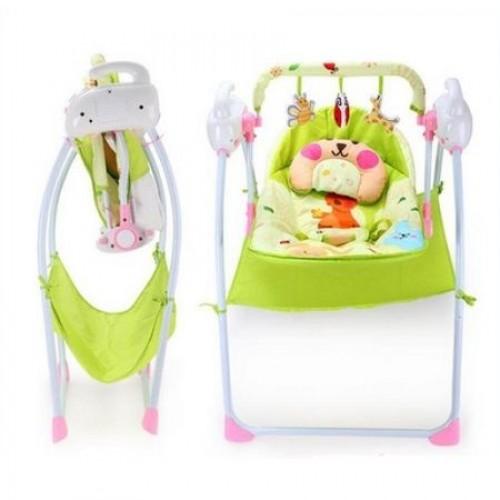 Balansoar copii cu vibratii Easy Sleep Pink
