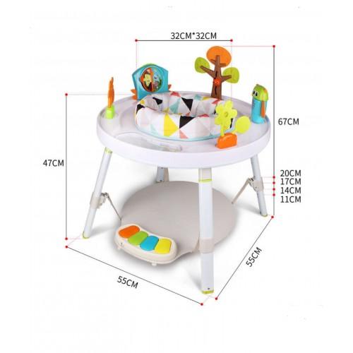 Centru de activitati 3-in-1 pentru bebelusi Play Fun