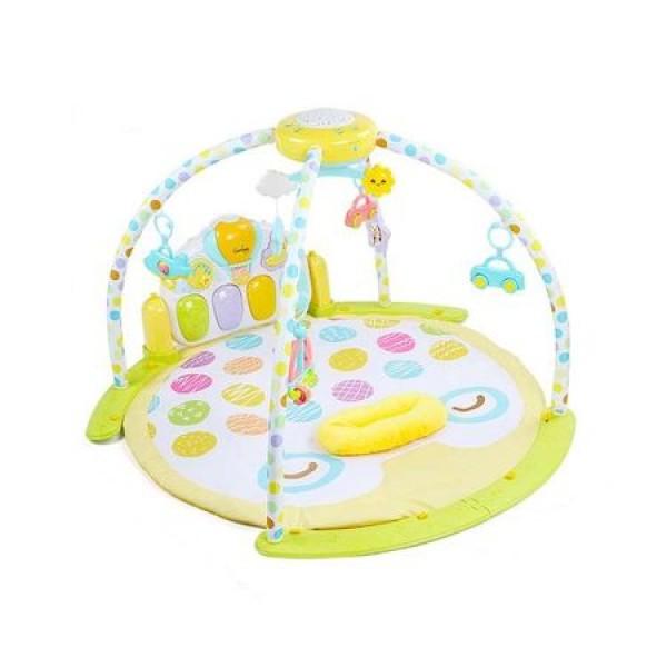 Covoras de joaca bebe cu pian si proiector tip Kick and Play Piano